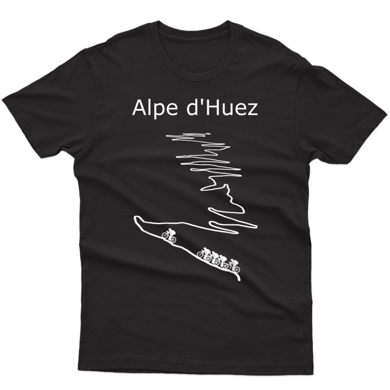 Alpe D Huez In France Cycling Design For And T-shirt