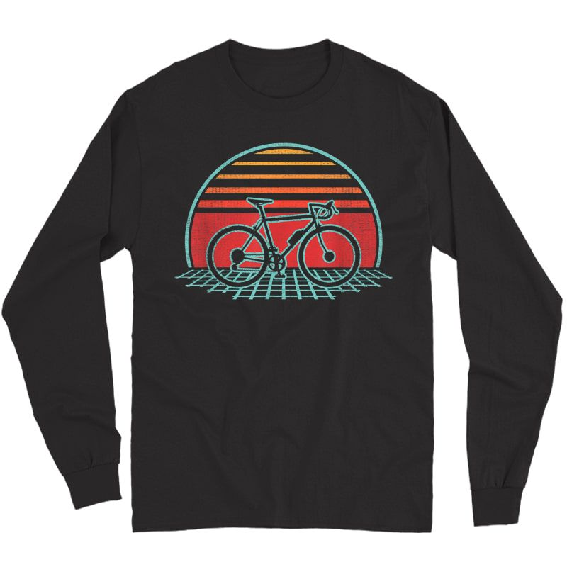 Bicycle Retro Vintage Cycling 70s 80s Style Gift T-shirt Long Sleeve T-shirt