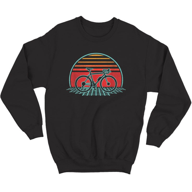 Bicycle Retro Vintage Cycling 70s 80s Style Gift T-shirt Crewneck Sweater