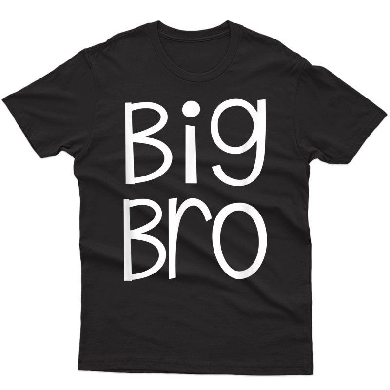 Big Bro Older Brother Matching Siblings Family Shirts