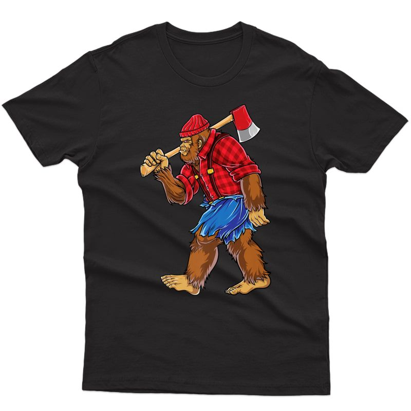 Lumberjack T Shirt Sasquatch Carpenter Dad