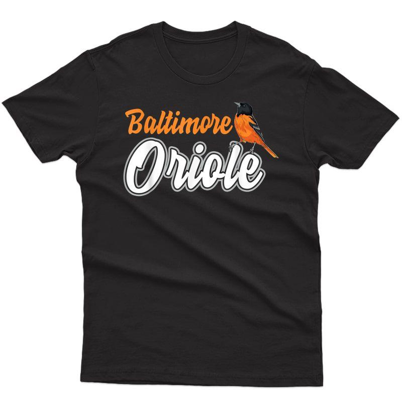 Birds Baltimore Oriole Retro Vintage Baltimore Oriole Bird T-shirt