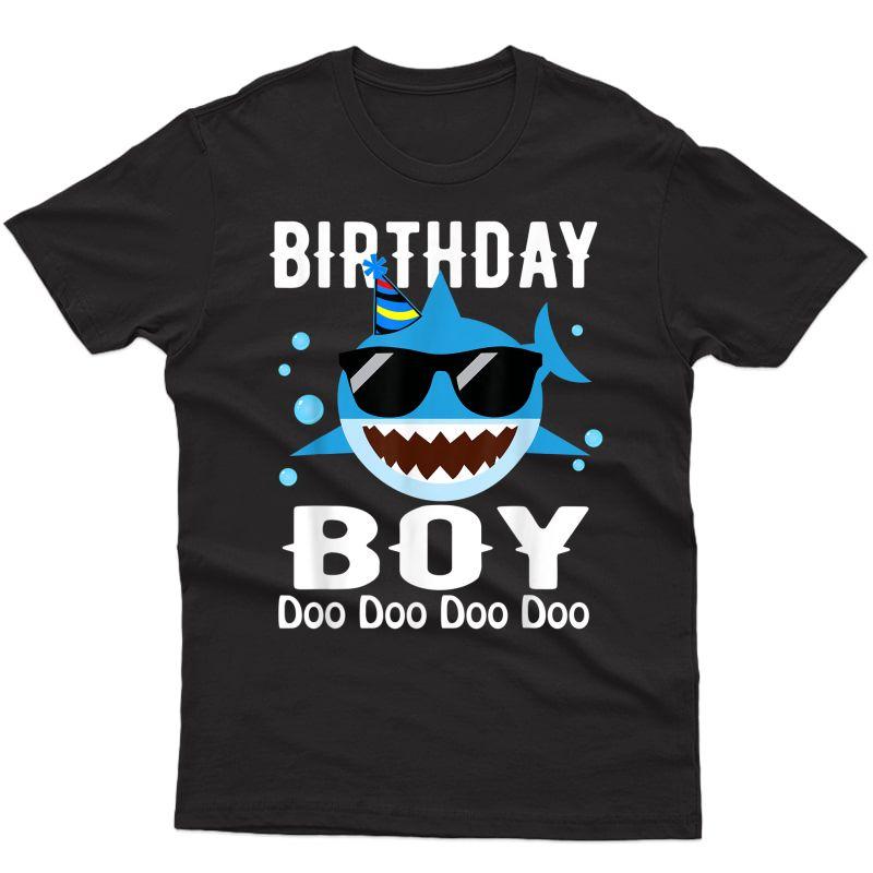 Birthday Boy Doo Doo Doo Funny Birthday Shark Doo Shirt