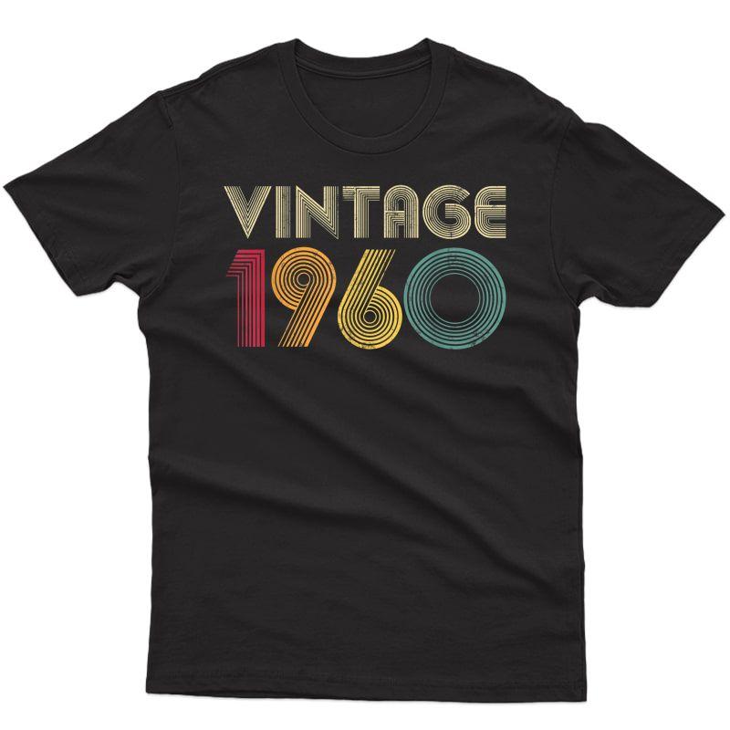 Birthday Gift Vintage 1960 Retro T-shirt