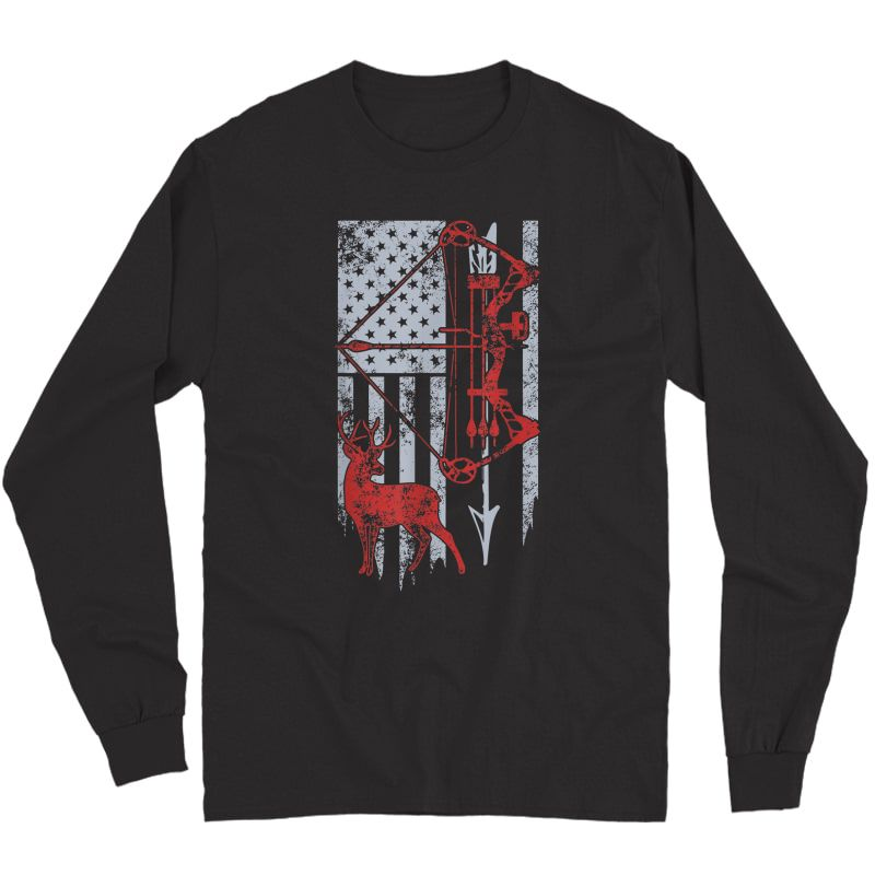 Bow Hunting Deer Flag For Or Hunters T-shirt Long Sleeve T-shirt