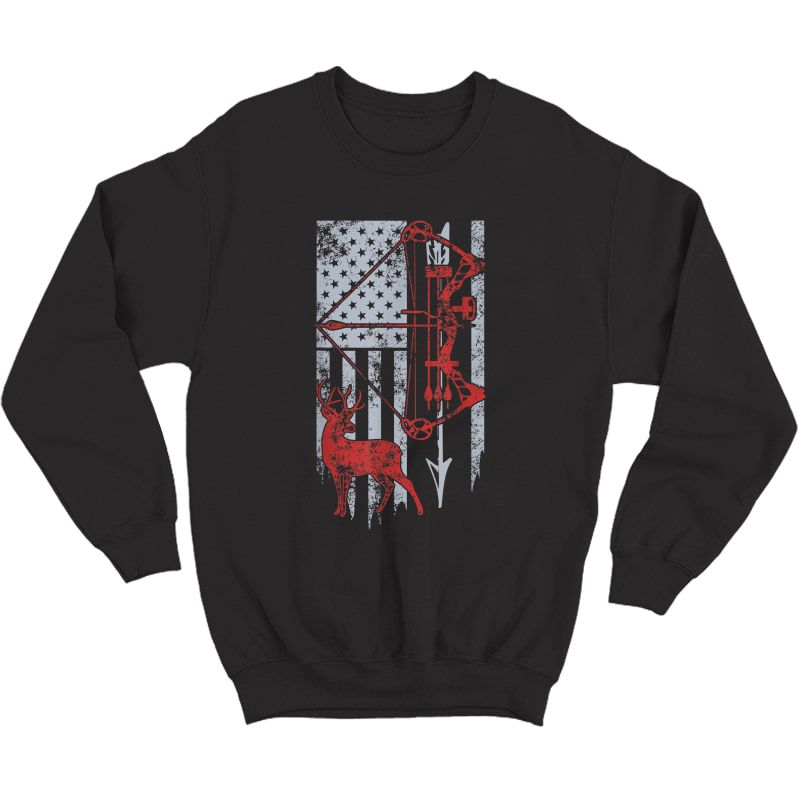 Bow Hunting Deer Flag For Or Hunters T-shirt Crewneck Sweater