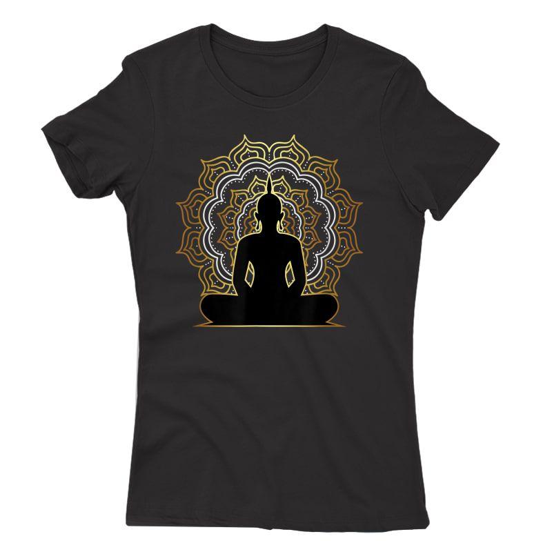 Buddha Meditation T Shirt, Spiritual Buddhist Yoga Tee