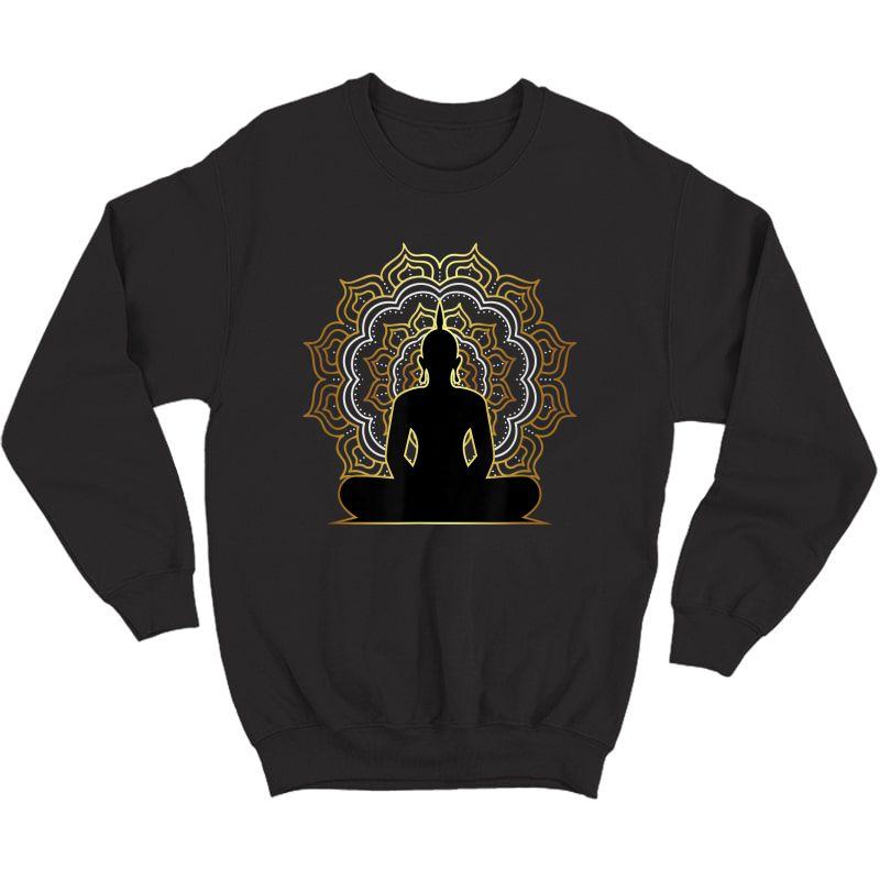 Buddha Meditation T Shirt, Spiritual Buddhist Yoga Tee Crewneck Sweater