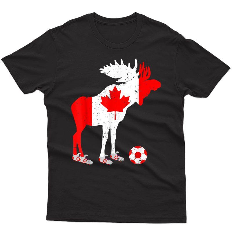 Canada Soccer Canadian Football Vintage T-shirt