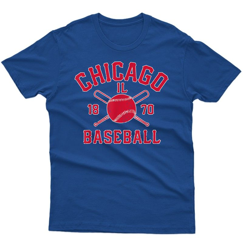 Chicago Baseball Vintage Chi Town Distressed Illinois Gift T-shirt