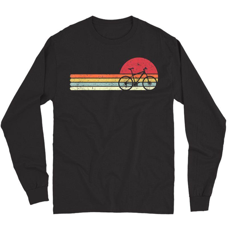 Cycling Shirt. Retro Style T-shirt For Cyclist Long Sleeve T-shirt