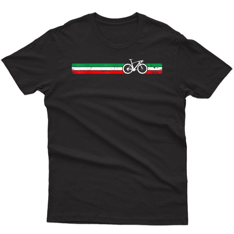 Cyclist Flag Italy T-shirt Italian Bike Racing Cycling Tee T-shirt