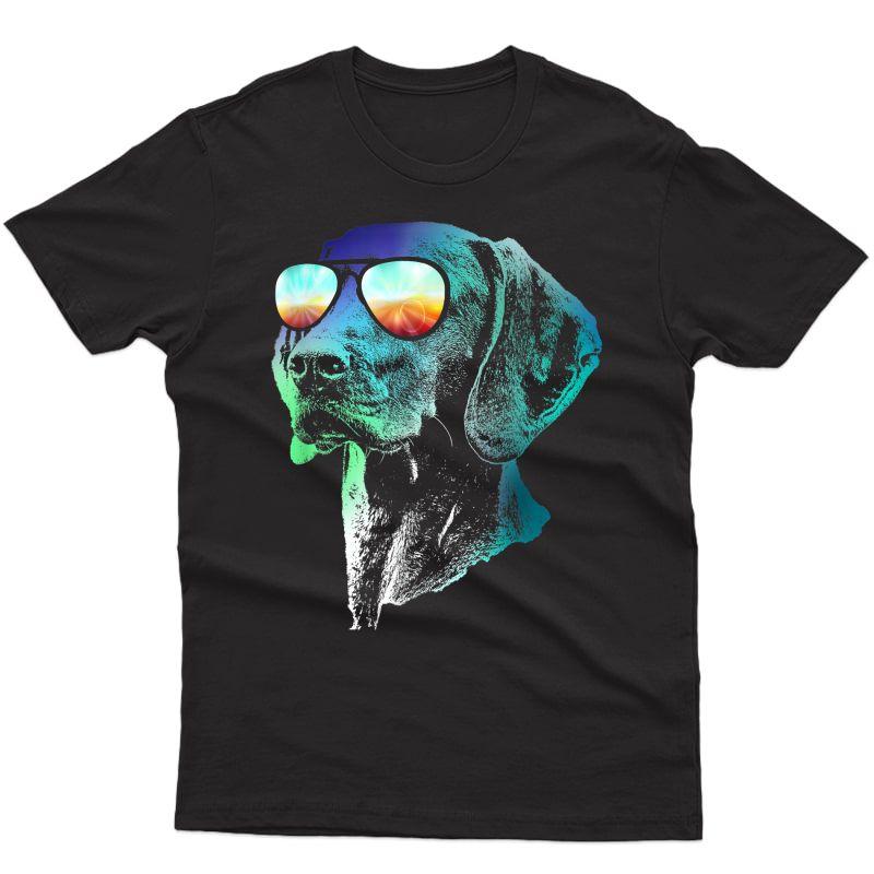 Disco Groovy Vizsla T-shirt Dog Gift