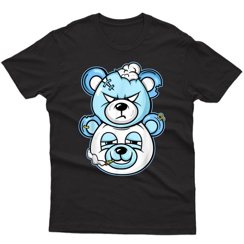 Douple Bear Graphic Tee Match Jordan 11 Low Legend Blue T-shirt