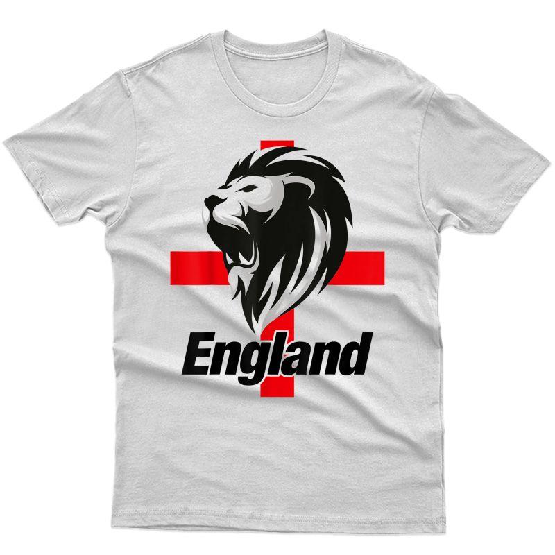 England Football, English Soccer Team, St George, Lion, Euro T-shirt