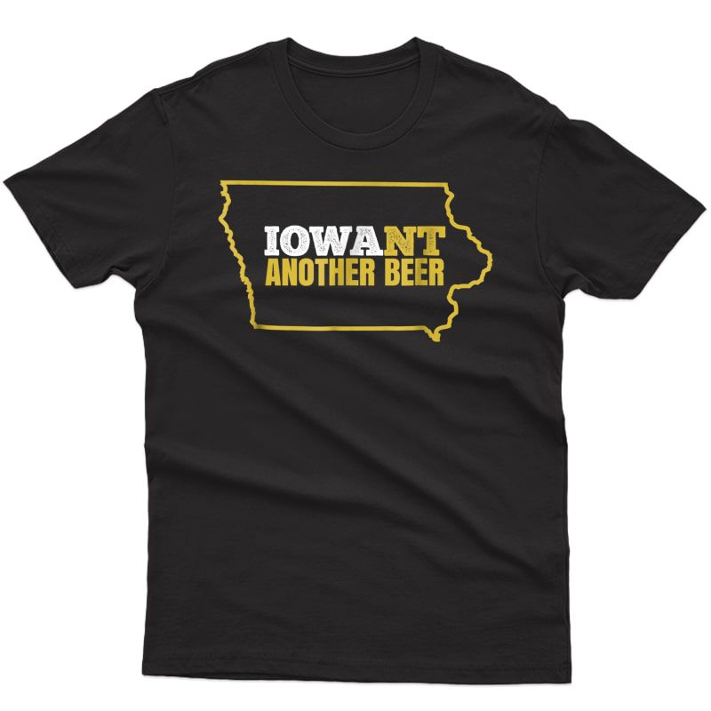 Funny Iowa Beer Shirt-distressed Iowa State Map T Shirt