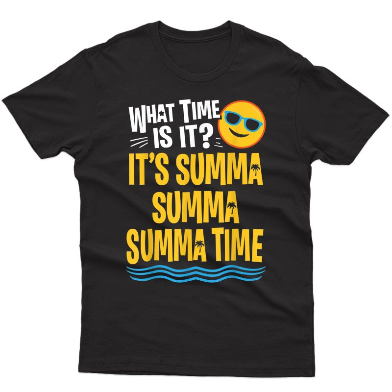 Funny Last Day Of School Summer Time Palm Tree Tea T-shirt