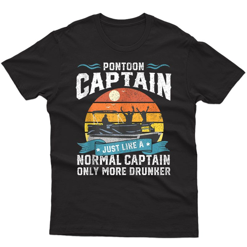 Funny Pontoon Captain Boat Lake Boating Beer Gift For Dad Tank Top Shirts