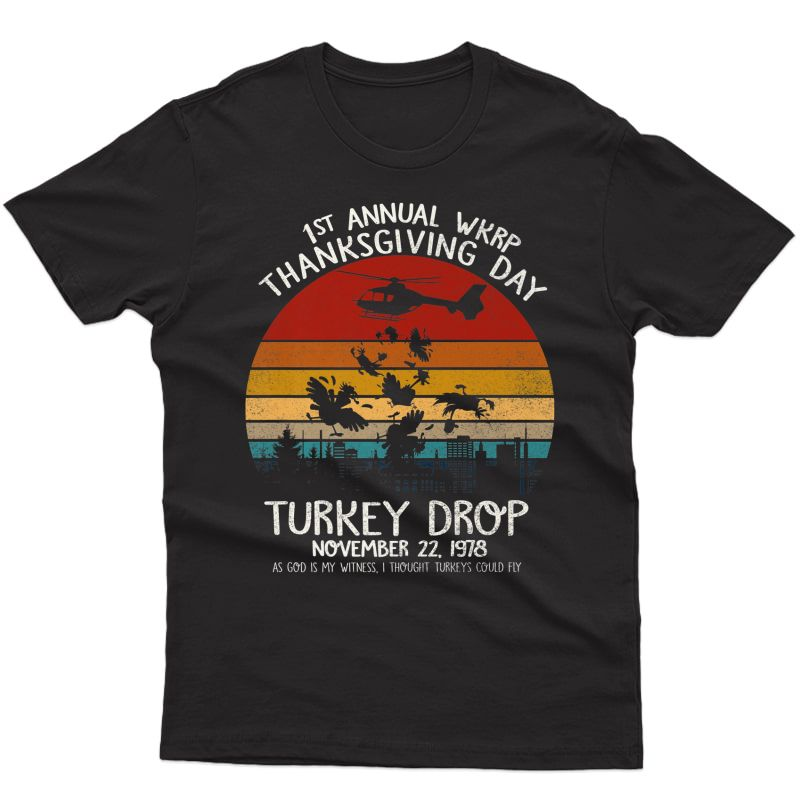 Funny Turkey Shirt Thanksgiving Wkrp-turkey-drop Premium T-shirt