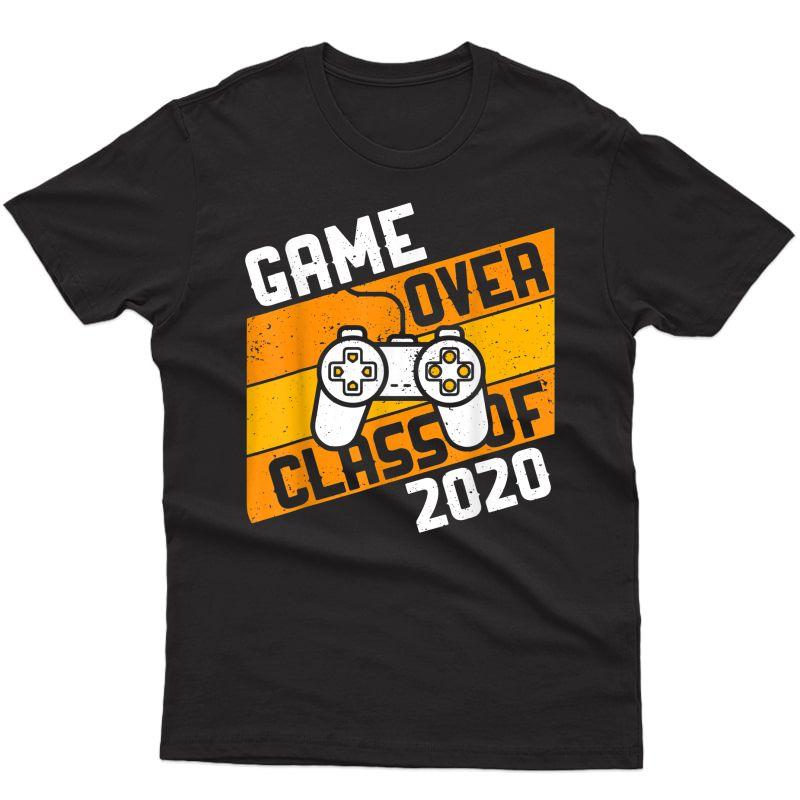 Game Over Class Of 2020 Shirt Video Games Graduation Gamer T-shirt
