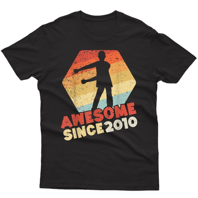 Gift For 10 Year Old Birthday Boy Awesome Since 2010 T-shirt
