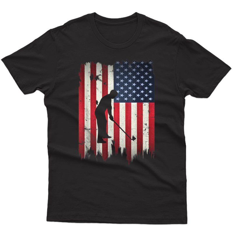 Golf Usa American Flag 4th Of July Patriotic Golfer T-shirt