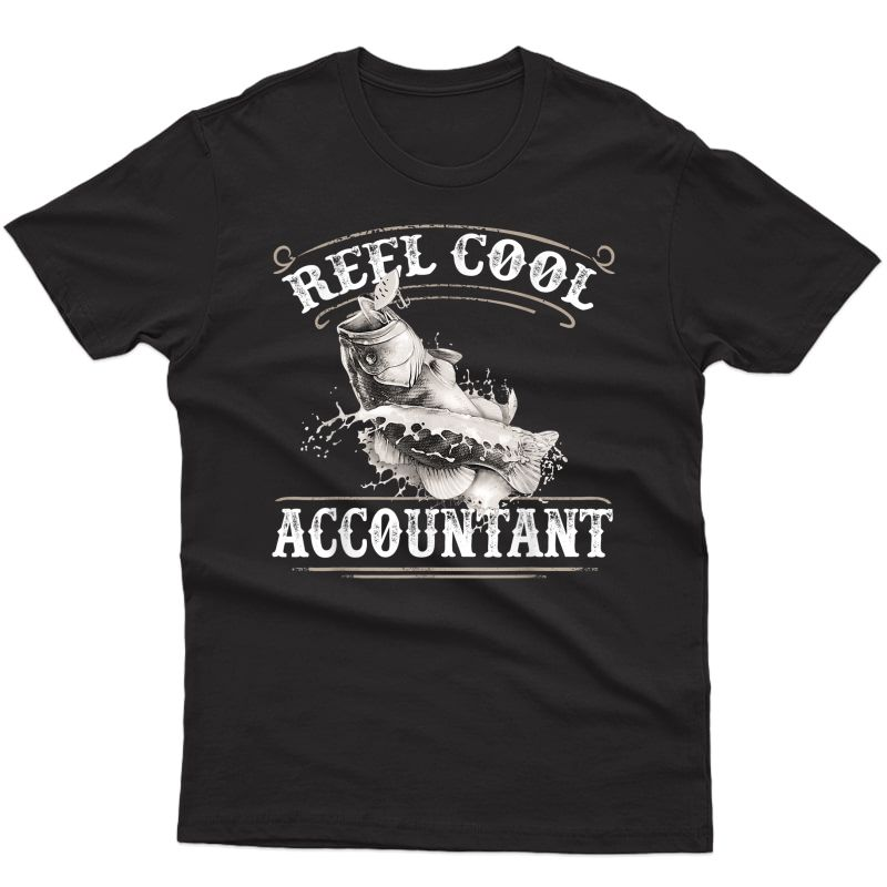 Great Accountant Job Fishing Hobby T-shirt