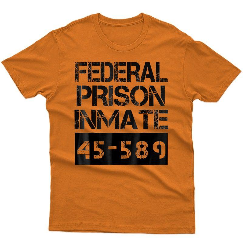 Halloween Federal Prison Inmate Prisoner Costume T-shirt