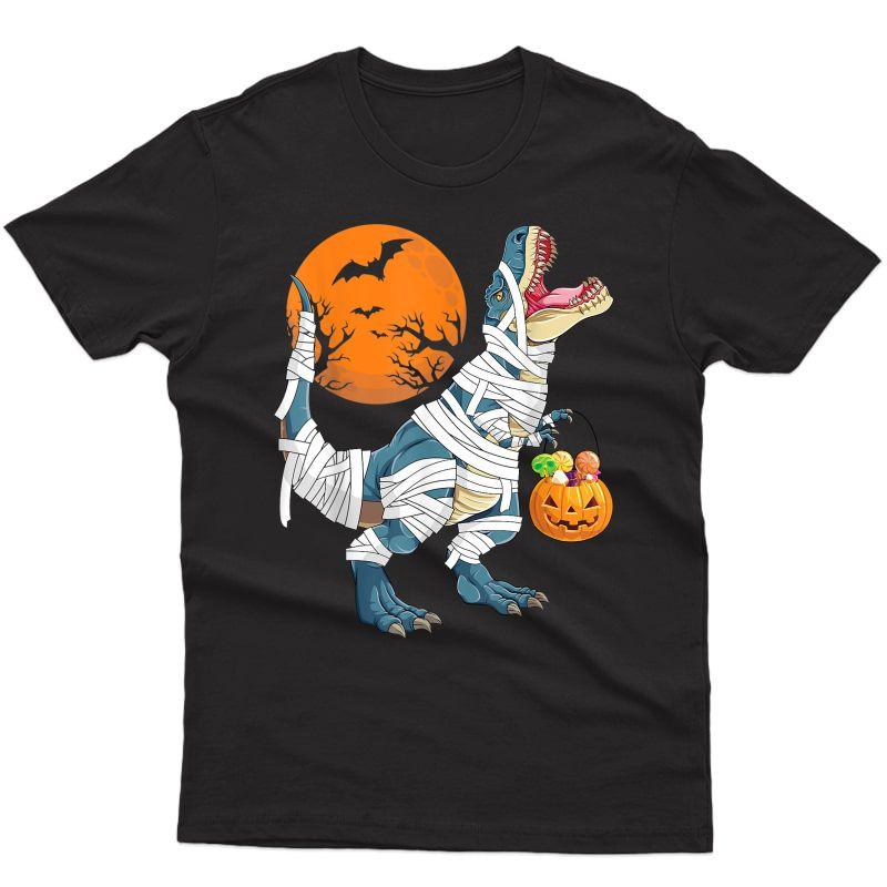 Halloween Shirt For Girls Dinosaur T Rex Pumpkin T-shirt