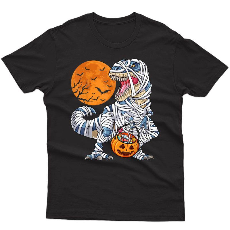 Halloween Shirts For Dinosaur T Rex Mummy Pumpkin T-shirt