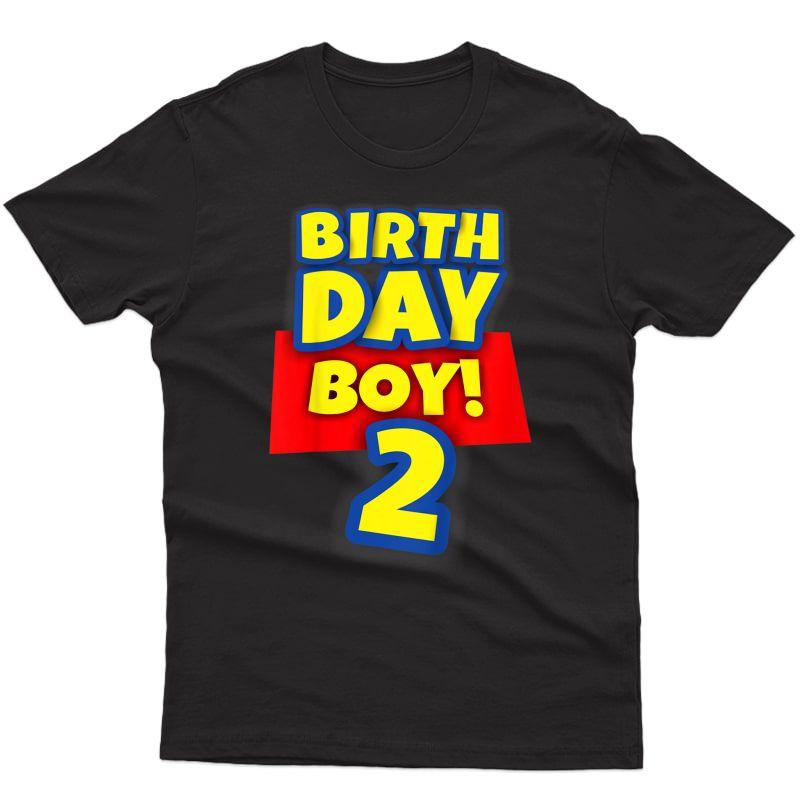 2 Year Old Toy Birthday Boy Gift T-shirt