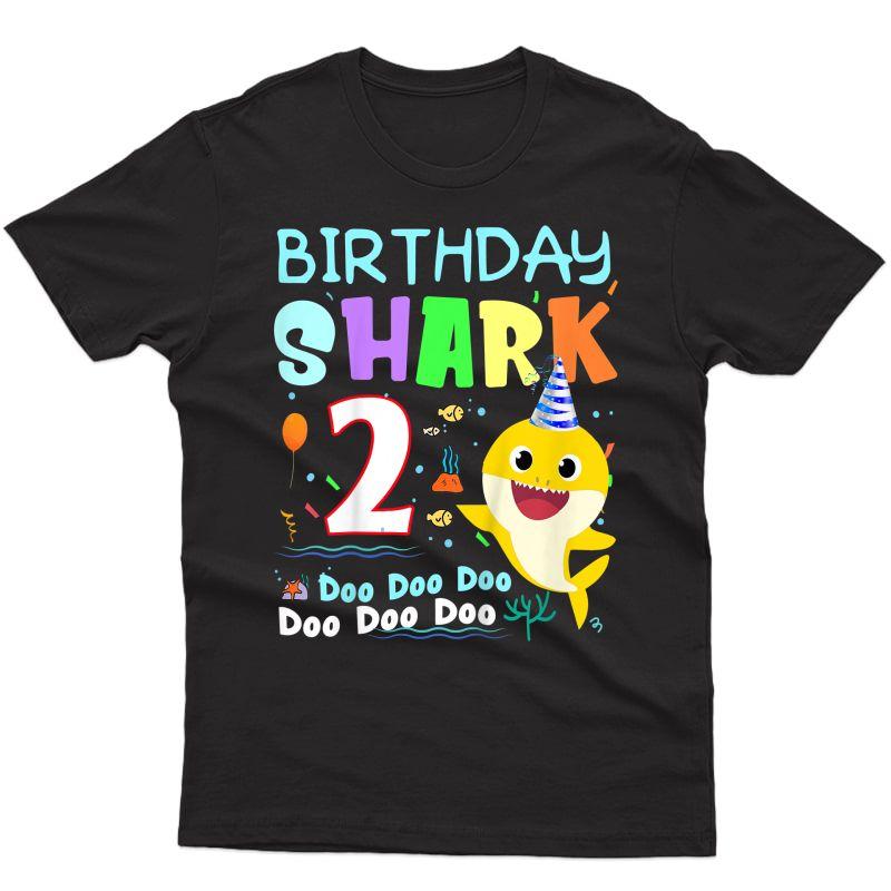 Baby Shark 2 Years Old 2nd Birthday Doo Doo Shirt