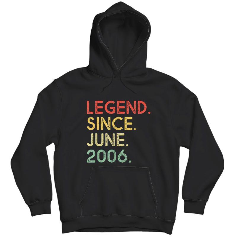 Legend Since June 2006 Birthday Shirt Unisex Pullover Hoodie