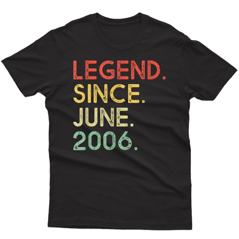 Legend Since June 2006 Birthday Shirt