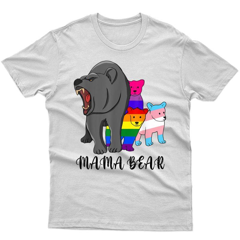 Mama Bear Lgbt Gay Trans Pride Support Lgbtq Parade T-shirt
