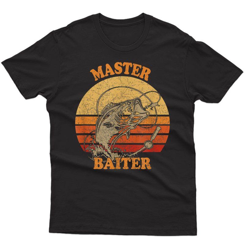Master Baiter Vintage Bass Fishing Funny Camping T-shirt