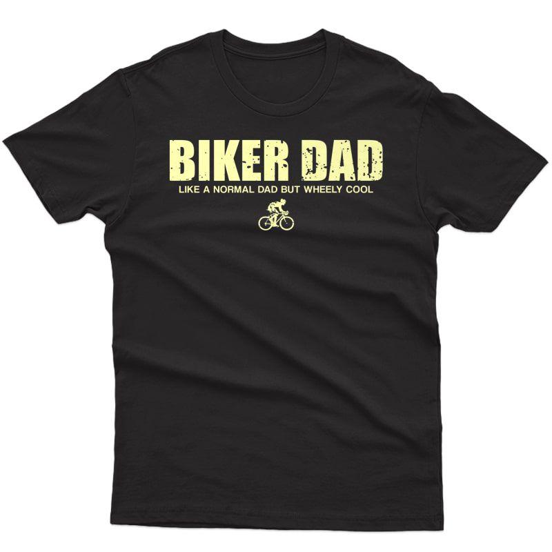S Funny Cycling Mountain Biking Biker Dad Premium T-shirt