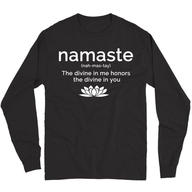 Namaste Buddha Lotus Flower Yogi Yoga Quote T-shirt Long Sleeve T-shirt