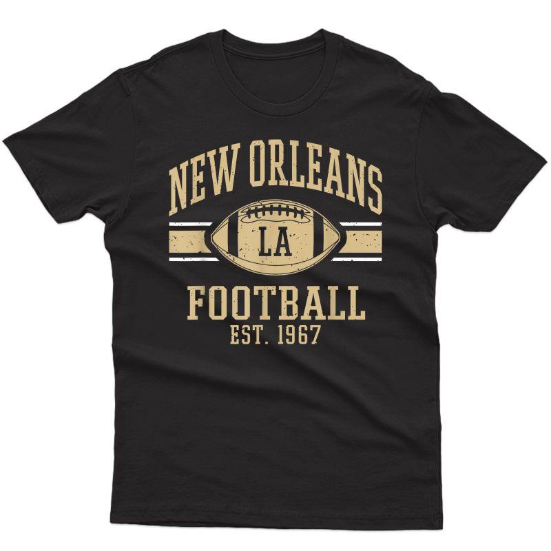 New Orleans Football Vintage Louisiana Nola Saint Retro T-shirt