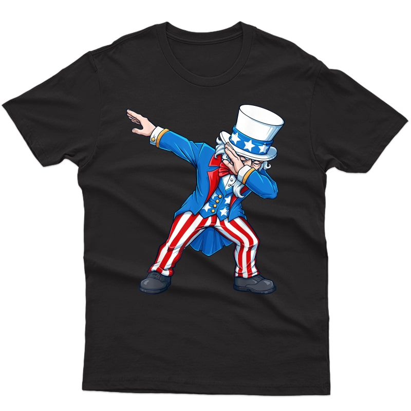 Patriotic 4th Fourth Of July Dabbing Uncle Sam Usa T-shirt