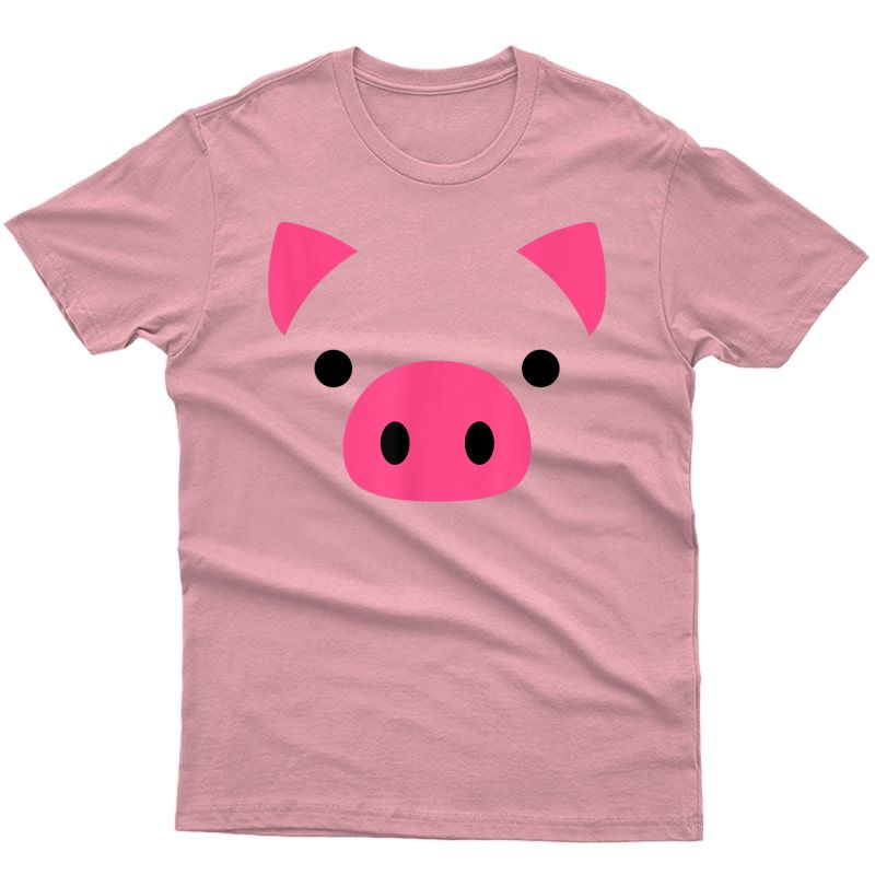 Pig Face Costume Funny Halloween T-shirt