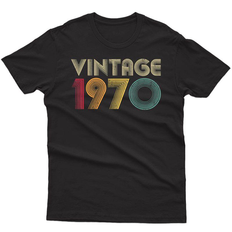 Retro 1970 50th Birthday Gift Classic Vintage T-shirt