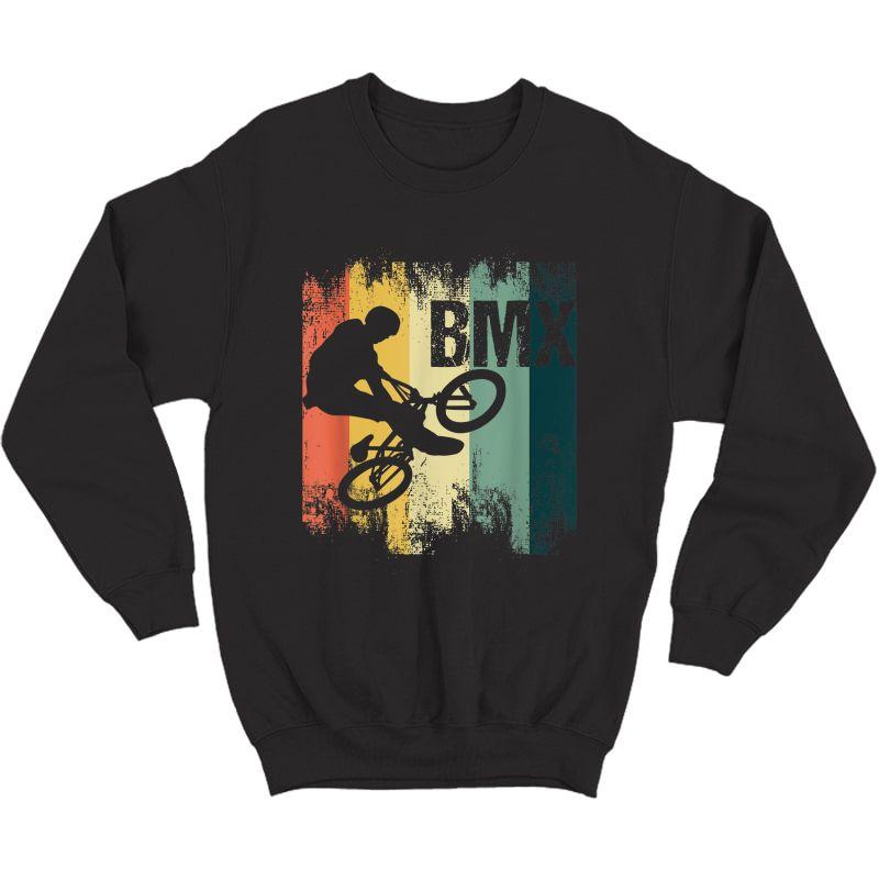 Retro Bmx Bicycle Stunt Cycling Bmx Cyclist Bicyclist Biker T-shirt Crewneck Sweater