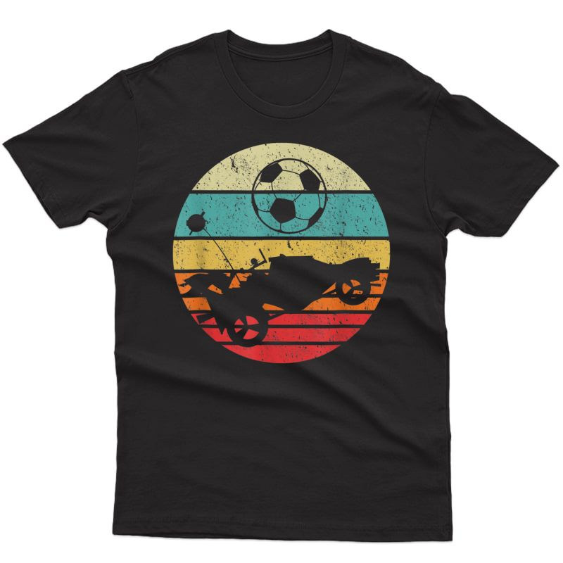 Retro Style Rocket Rc Soccer Car League Gamer T-shirt