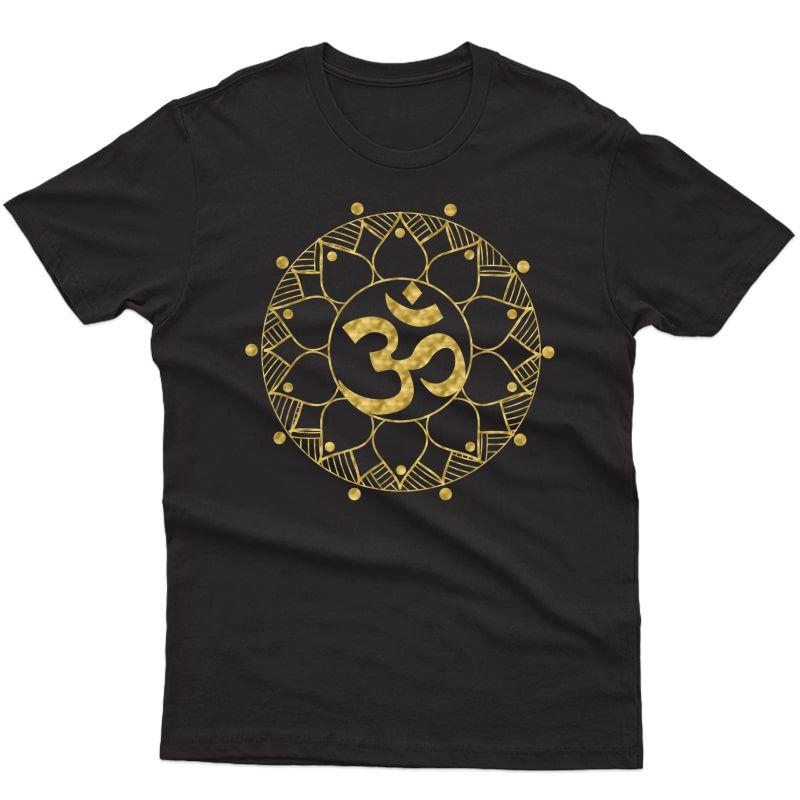 Sacred Mandala Om   Spiritual Yoga Lover Gift Z000025 Shirts