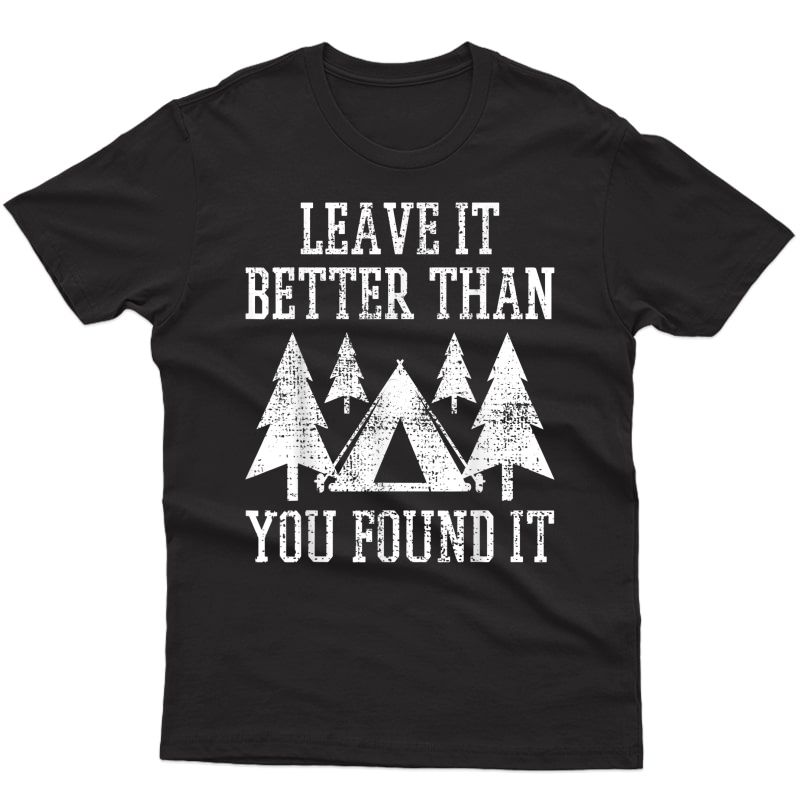 Scout Camp Camping Hiking Vintage Tent T-shirt