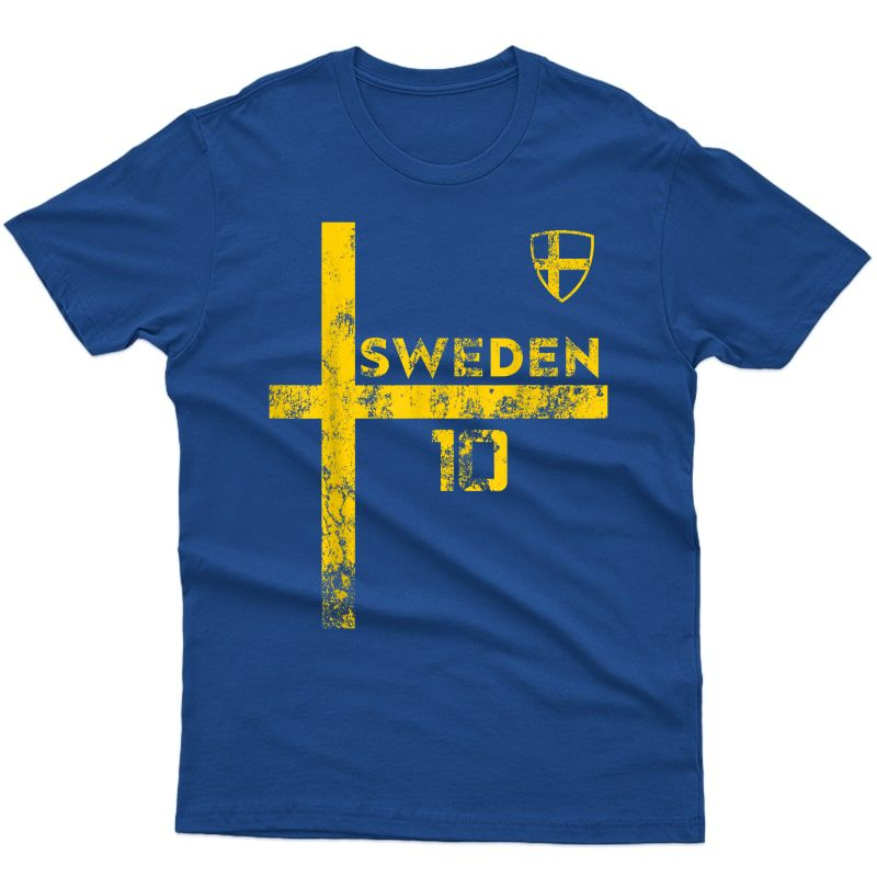 Sweden Soccer Style Sverige Skjorta Vintage Stroja T-shirt