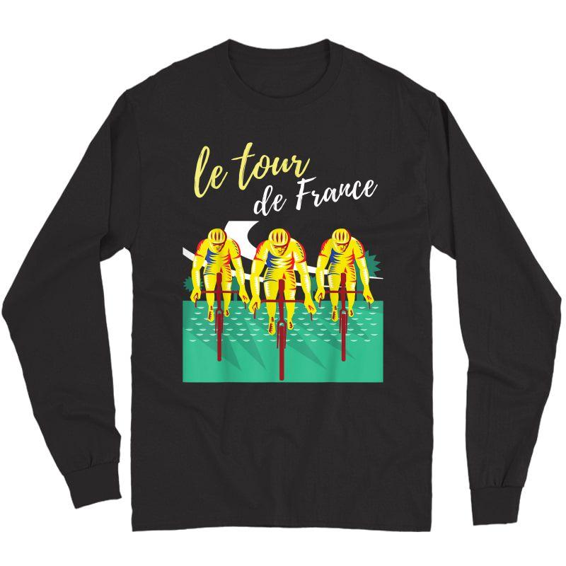 Tour France S T-shirts Cycling Tee Bike T-shirt Long Sleeve T-shirt