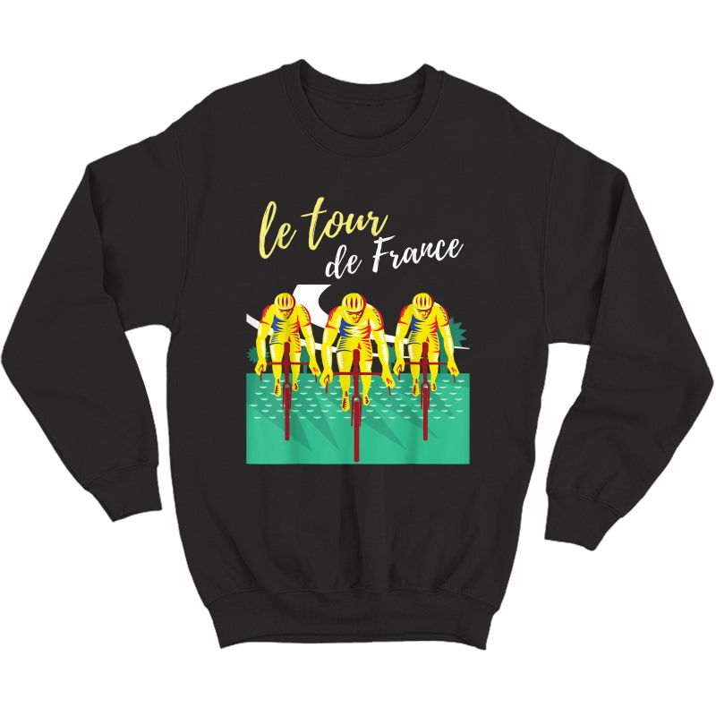 Tour France S T-shirts Cycling Tee Bike T-shirt Crewneck Sweater