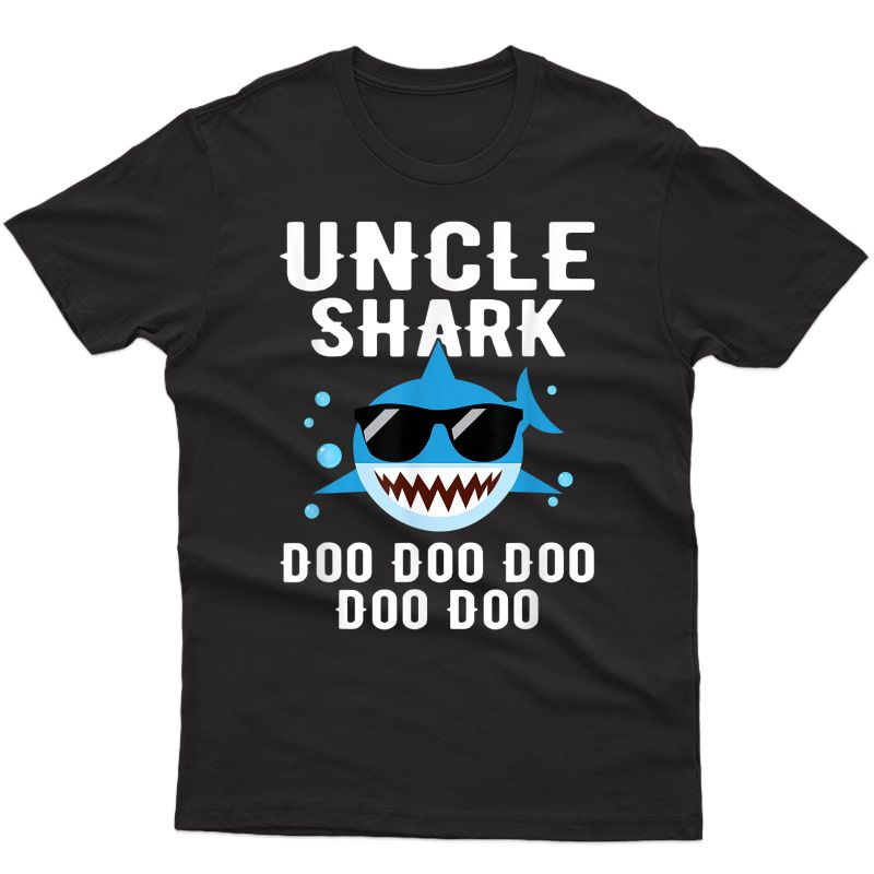 Uncle Shark Doo Doo Doo Funny Gifts Cute Family Shirt